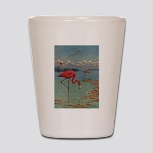 Flamingo Art Shot Glass