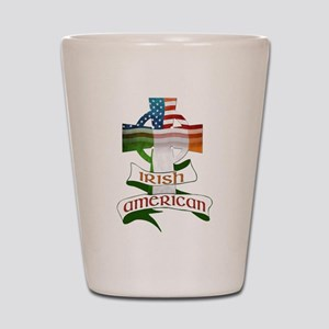 Irish American Celtic Cross Shot Glass