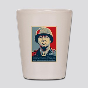 George S. Patton Shot Glass