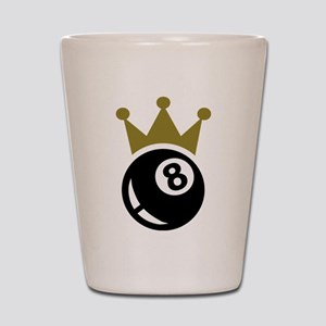 Eight ball billiards crown Shot Glass