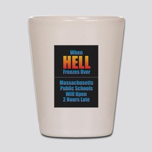 Hell Freezes - Massachusetts Shot Glass