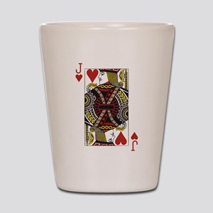 Jack of Hearts Shot Glass
