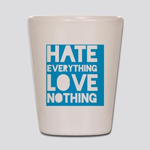 hatelove_cyan Shot Glass