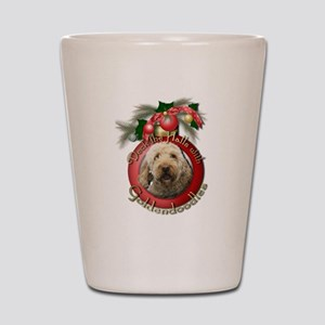 Christmas - Deck the Halls - GoldenDoodles Shot Gl