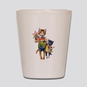 Cute Cats Bearing Gifts Shot Glass