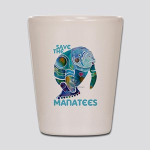 Save The Manatees 2 Shot Glass