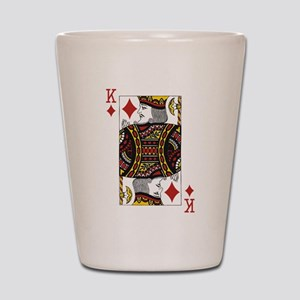 King of Diamonds Shot Glass