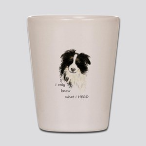 Watercolor Border Collie Dog Humor Herding Quote S