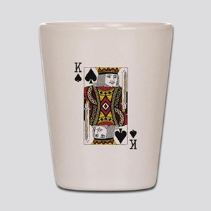 King of Spades Shot Glass