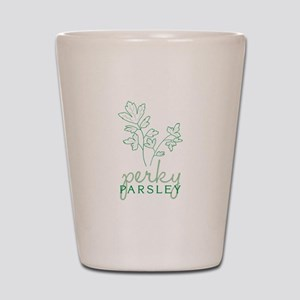 Perky Parsley Shot Glass