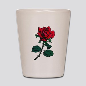 Red Rose Tattoo Shot Glass