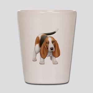 Friendly Basset Hound Dog Shot Glass