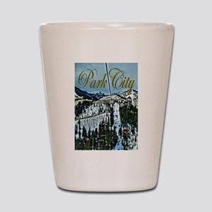 Park City Painted Poster Shot Glass