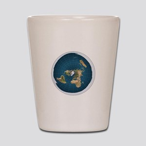 Flat Earth Map Shot Glass