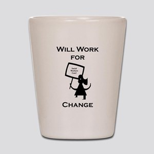 Work for Change Shot Glass