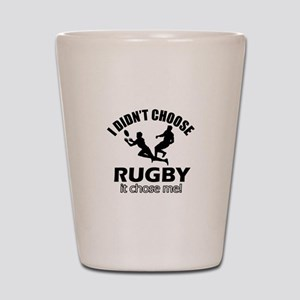 Rugby Choose Me Shot Glass