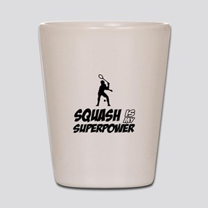 Squash Is My Superpower Shot Glass