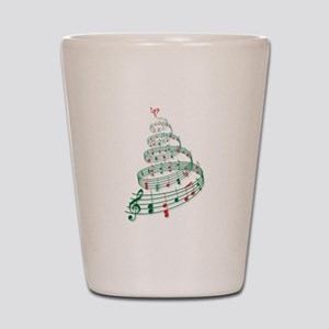 Music Christmas tree Shot Glass