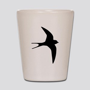 Swallow bird Shot Glass