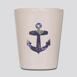 Floral anchor Shot Glass