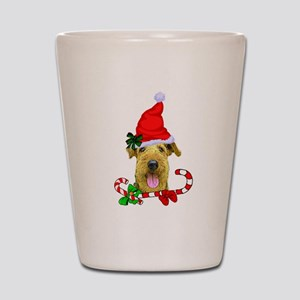 Airedale Terrier Christmas Shot Glass