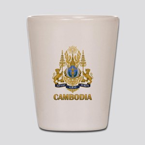 Cambodia Coat Of Arms Shot Glass