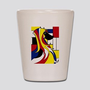Geometric Afghan Hound Abstract Shot Glass