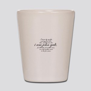 I Am John Galt Script Shot Glass