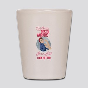 Women Postal Workers Shot Glass