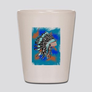 Native American Art Shot Glass
