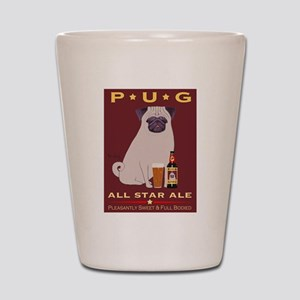 Pug All Star Ale Shot Glass