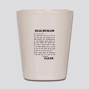 Letter to Humans from Earth Shot Glass