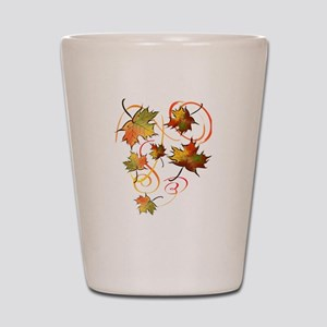 Racing The Autumn Wind Shot Glass
