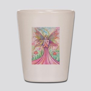 Wildflower Fairy Watercolor Fantasy Art Shot Glass