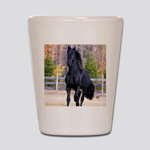 Frisian Horse Stallion 02 Shot Glass