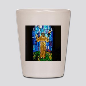 St. Francis Stained Glass Shot Glass