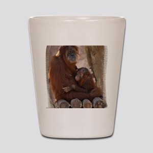 (16) Orang Mother and Child 7374 Shot Glass