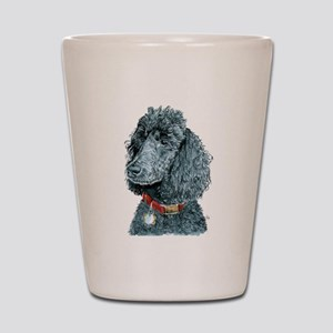Black Poodle Whitney Shot Glass
