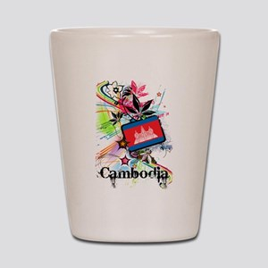 Flower Cambodia Shot Glass