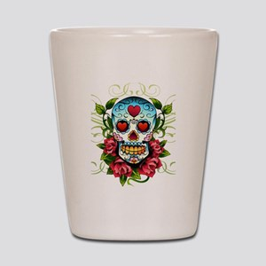 SugarSkull1 Shot Glass