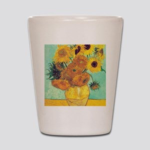 Sunflowers by Vincent Van Gogh Shot Glass