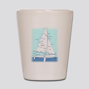 SAILBOAT DIAGRAM (technical design) Shot Glass