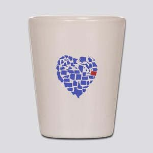 Oregon Heart Shot Glass