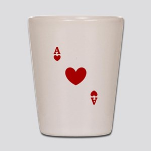 Ace of hearts card player Shot Glass