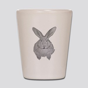 Flemish Giant by Karla Hetzler Shot Glass