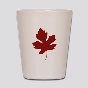 Maple Leaf Shot Glass