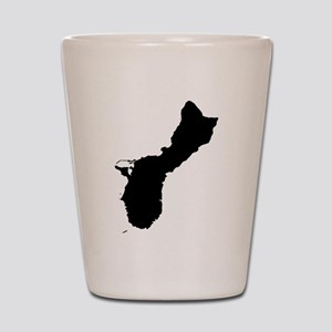 Guam Silhouette Shot Glass
