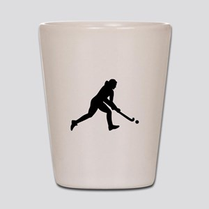 Field hockey girl Shot Glass