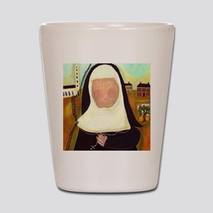 Nuns Stairway to Heaven Shot Glass