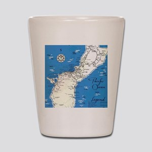 GUAM MAP Shot Glass